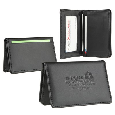 Signature Leather Business Card Wallet - Item rgclf-dmpcu